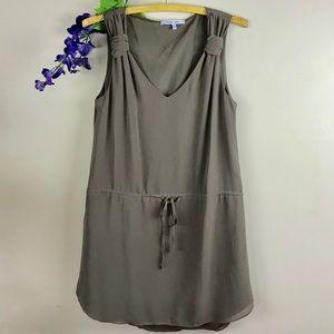 Naked Zebra Taupe Sleeveless Mini Dress